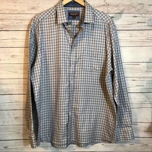 Johnston & Murphy Long Sleeve Men's Plaid Shirt XL